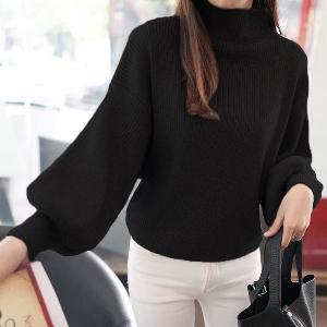 Стилен дамски пуловер с широк ръкав в 6 различни цвята
