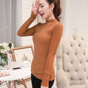 Стилен дамски пуловер в 8 цвята