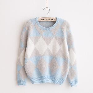 Стилен дамски пуловер в 2 цвята