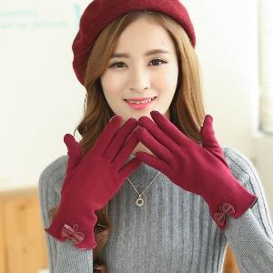 Дамски зимни ръкавици - лилави, черни, сиви, червени, сини