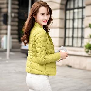 Модерно зимно дамско яке - жълто, синьо, зелено, черно, червено