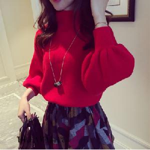 Дамски пуловер в 5 цвята с висока яка