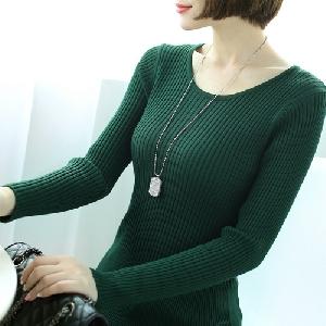 Дамски пуловер в 8 различни цвята