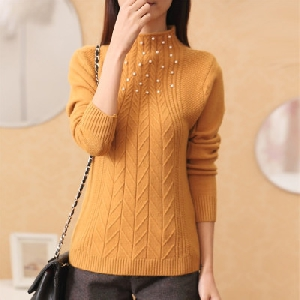 Дамски пуловер в 5 различни цвята