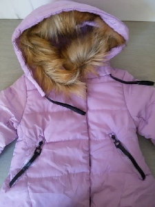 Детски зимни якета за момичета с качулка и пух