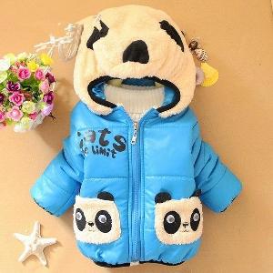 Детски зимни якета със стилна качулка различни цветове