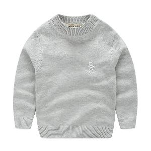 Παιδικά χειμωνιάτικα πουλόβερ για αγόρια - με πλεξούδα και υψηλό κολάρο σε  λευκό 711938ef29d