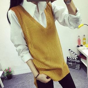 Дамски небрежен  цветен пуловер в 5 различни цвята