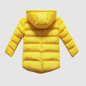 Детски зимни якета с качулка - зелени, сини жълти, черни - за момчета и момичета