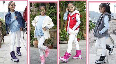 Детски зимни водоустойчиви ботуши за момичета  - различни модели и размери