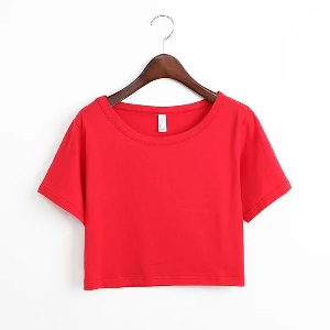 Дамски летни къси блузи -- червени, сини, розови, бели