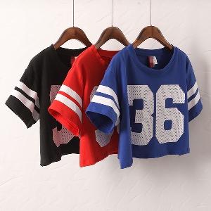 Дамски къси блузи - летни - три топ модела - червени, сини и черни