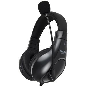 Слушалки Салар в черен и бял цвят - подходящи за гейминг и музика