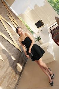 Дамски стилни рокли - червени, сини и черни