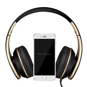 Удобни сгъваеми слушалки за телефон в черен и бял цвят
