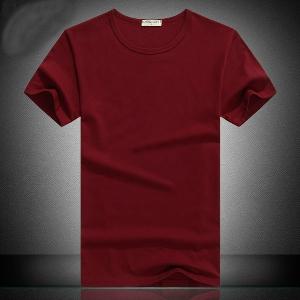 Мъжки памучни тениски с о-образна яка - 5 модела