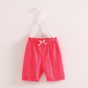 Детски къси панталони за момичета - червени, зелени и сини