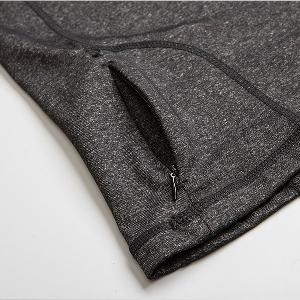 Дамска спортна блуза - черен и тъмно сив цвят