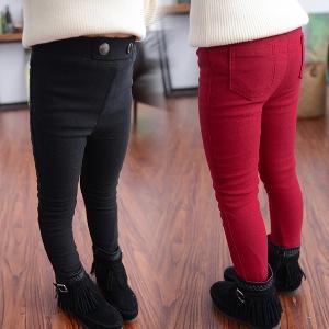 Детски панталони за момичета - червени и черни