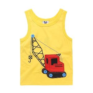 Детски летен потник за момчета с анимационни изображения - жълт, червен, черен, син