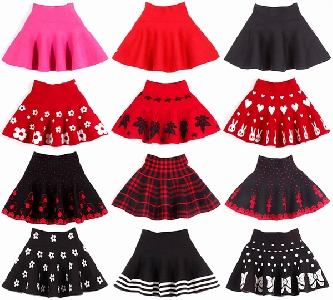 Детски поли - пролетни, есенни и зимни - червени, черни, с изображения