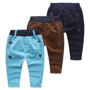 Детски панталони - пролет, есен и зима - три модела - светлосин, тъмносин и кафяв