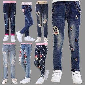 Детски пролетни дънки за момичета - различни размери и топ модели