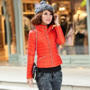 Дамско късо яке - пролетно, есенно и зимно - оранжево, лилаво, червено, синьо и черно