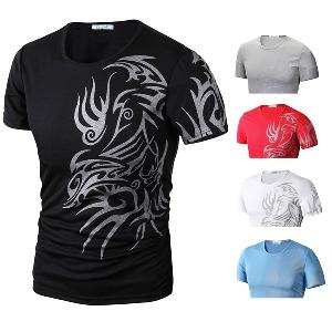 Мъжка тениска Wolf Totem Tattoo 5 цвята