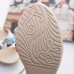 Дамски сандали на платформа