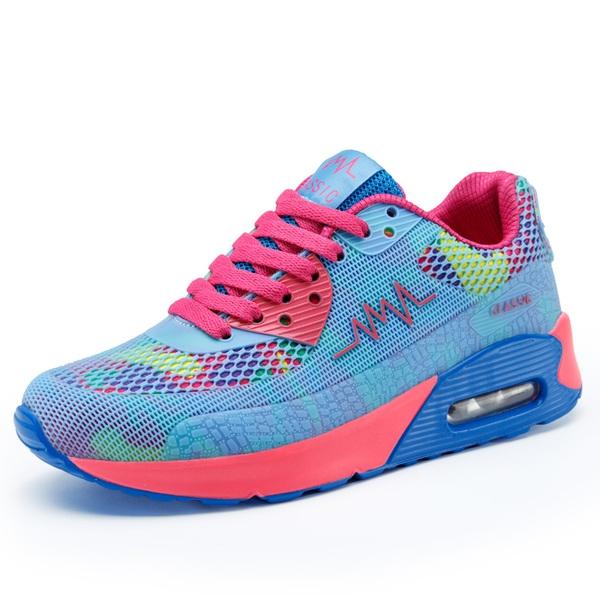 5da44c0f47d Дамски цветни маратонки с въздушна възглавница - Badu.bg - Светът в ръцете  ти