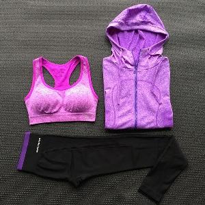 Дамско облекло за йога от 3 части: различни модели и цветове