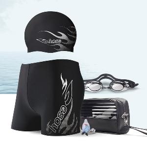 Несесер с принадлежности за плуване - очила и щипка за нос, шапка и бански