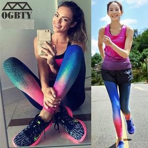 Дамски спортен клин преливащи се цветове