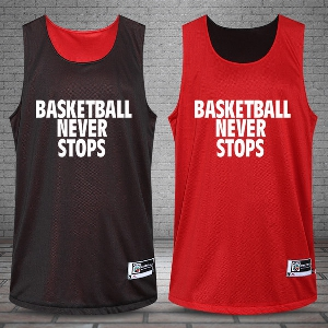 Тениска без ръкави за баскетбол с две лица-различни цветове