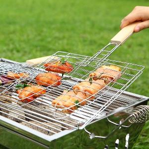 Аксесоар към скара - щипка за месо или риба