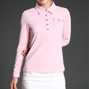 Дамска блуза за голф: Жълта, Черна, Розова