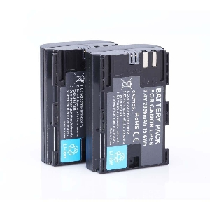 2бр 2650mAh LP-E6 LPE6 LP E6  батерии + зарядно за Canon 5D Mark II 7D 60D EOS 6D