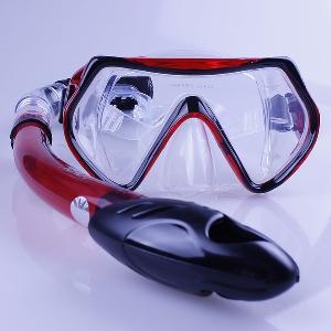 Шнорхел с очила за плуване и гмуркане - розови, сини, жълти, червени
