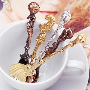 Лъжички за кафе и чай - декоративни с ретро дизайн, позлатени и сребристи