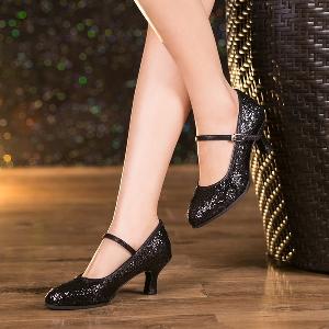 Дамски обувки за танци с пайети