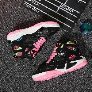 Дамски пролетни спортни обувки - маратонки подходящи за баскетбол - два модела в черно и бяло