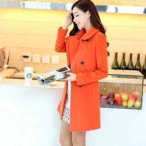 Дамско пролетно-есенно дълго слим палто в три топ модела