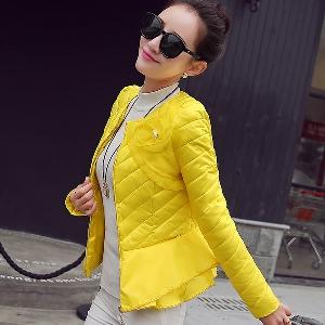 Γυναικείο μπουφάν για την άνοιξη Κίτρινο, Κόκκινο, Λευκό, Μαύρο