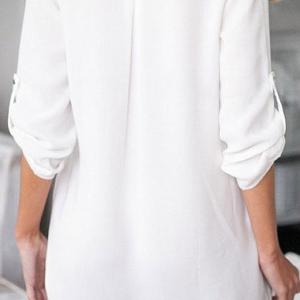 Di Lameng дамска риза  V-образно деколте в два цвята