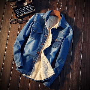Мъжки ризи от деним с дълъг ръкав -  10 модела