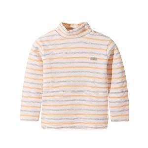 Детски пролетни блузи с дълъг ръкав и яка - различни раирани памучни модели