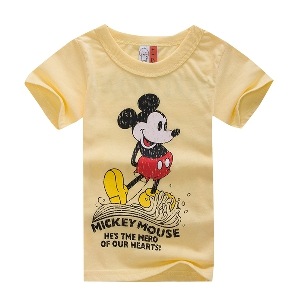 Детски летни тениски с къс ръкав - Мики Маус, Динозавър, Канада, Октопод и други анимации