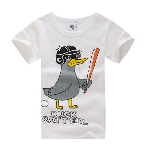 Детски летни памучни тениски с къс ръкав за момчета - анимации с Мики Маус, Спайдърмен и други