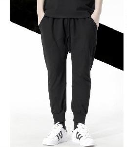 Мъжки черни панталони стил ърбън
